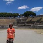 Frank in het Amfitheater