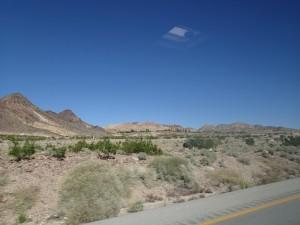 De omgeving bij Las Vegas