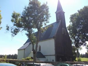 Het kerkje waarbij we moesten parkeren